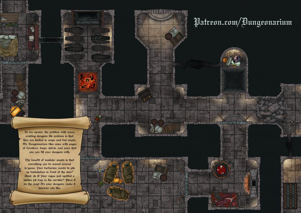 Oc][Resource] Hd, Printable, Modular Dungeon Tiles And Loads Of for Printable D&d Map Tiles