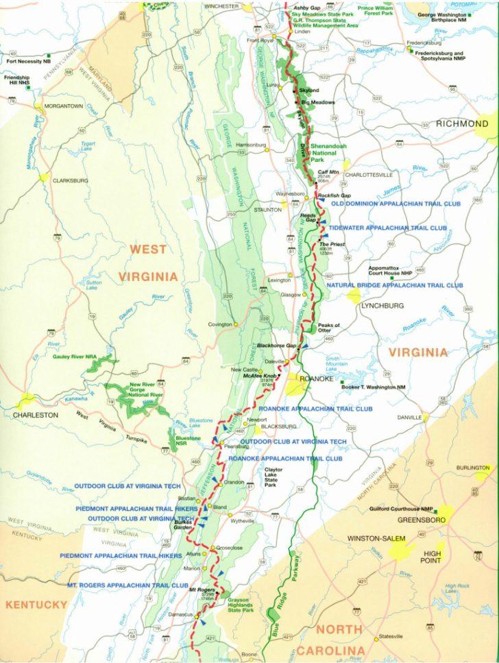 Printable Appalachian Trail Map