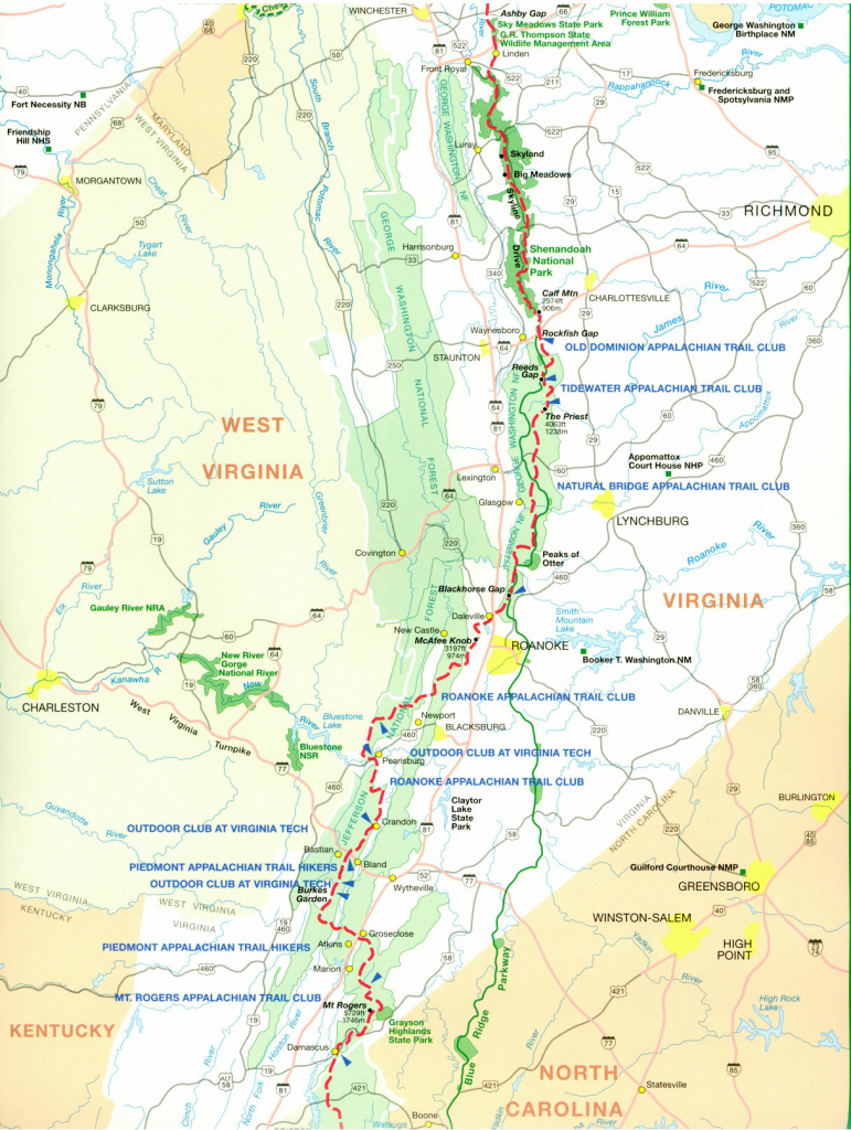 Official Appalachian Trail Maps in Printable Appalachian Trail Map
