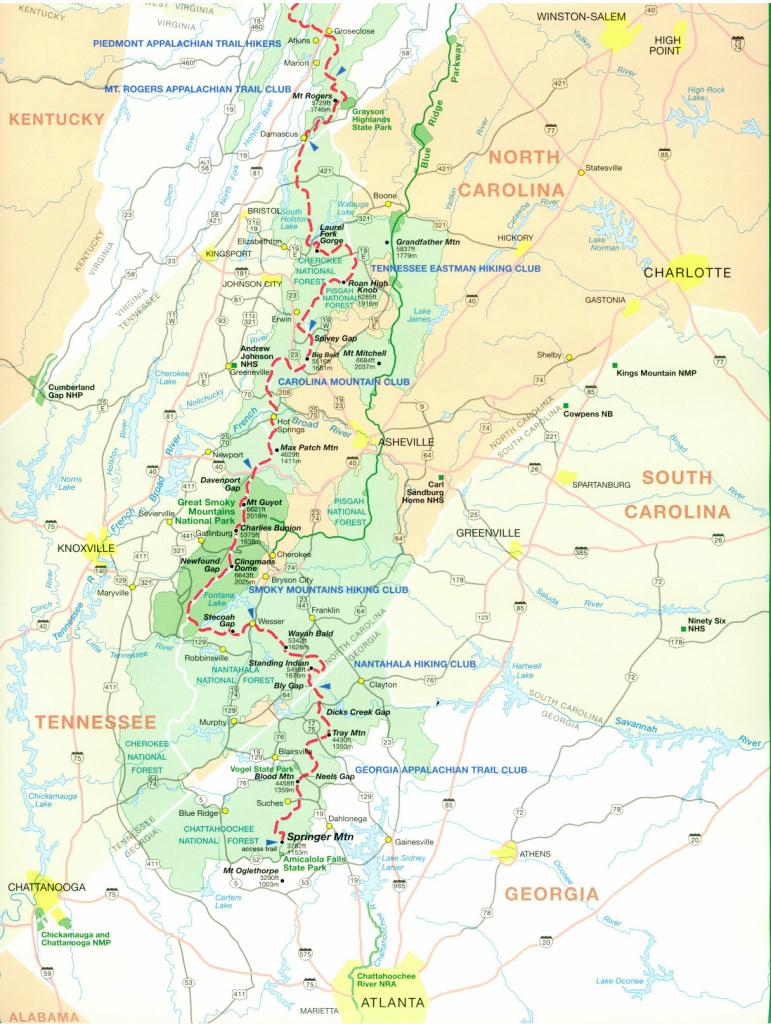 Official Appalachian Trail Maps regarding Printable Appalachian Trail Map