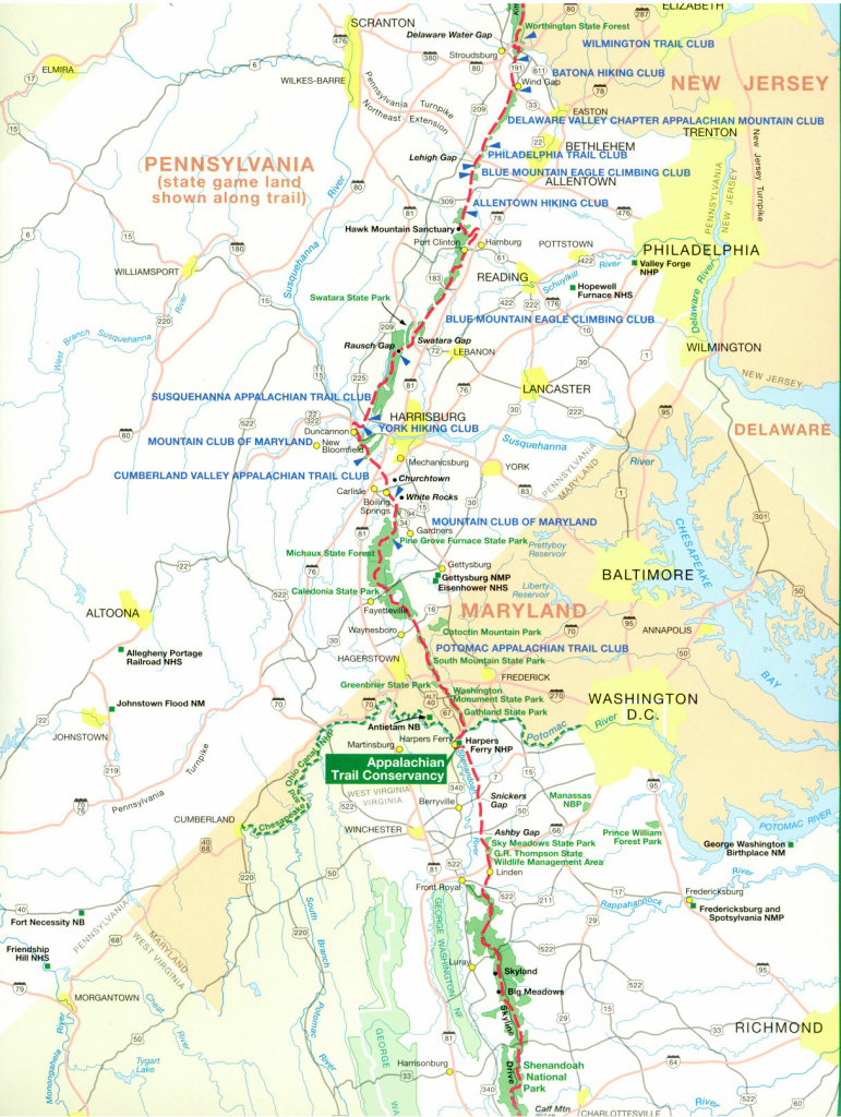 Official Appalachian Trail Maps with Printable Trail Maps
