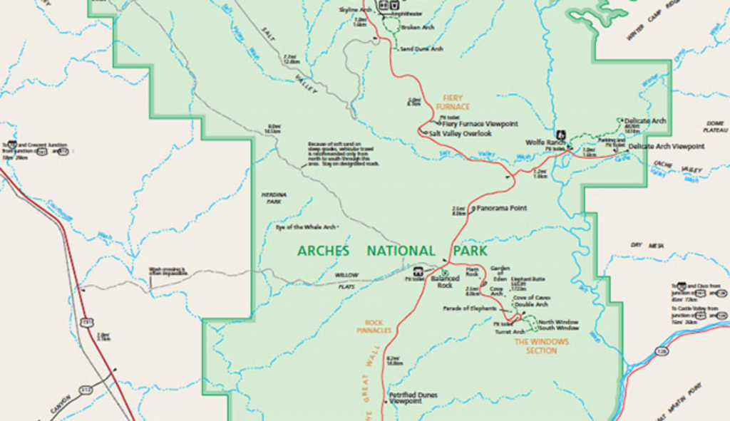 Official Arches National Park Map Pdf - My Utah Parks with regard to Printable Map Of Utah National Parks