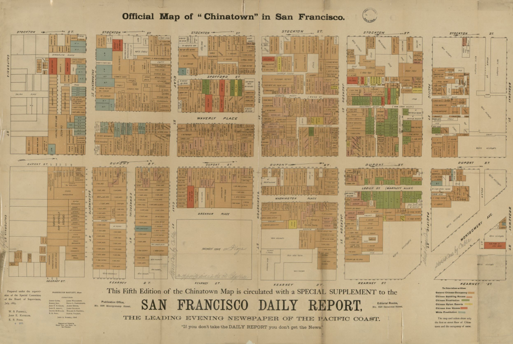 """Official Map Of """"chinatown"""" In San Francisco 