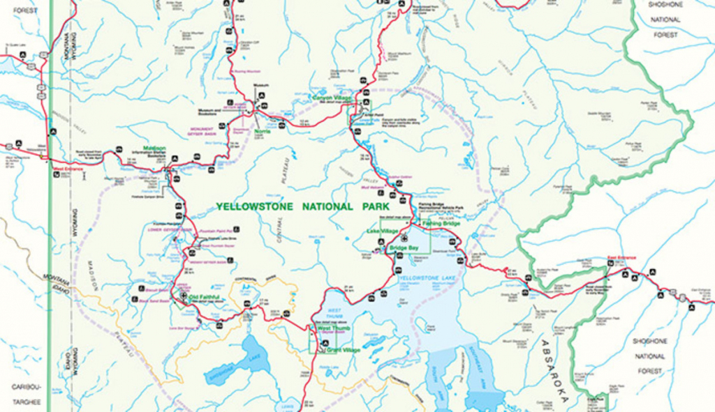 Official Yellowstone National Park Map Pdf - My Yellowstone Park for Printable Map Of Yellowstone