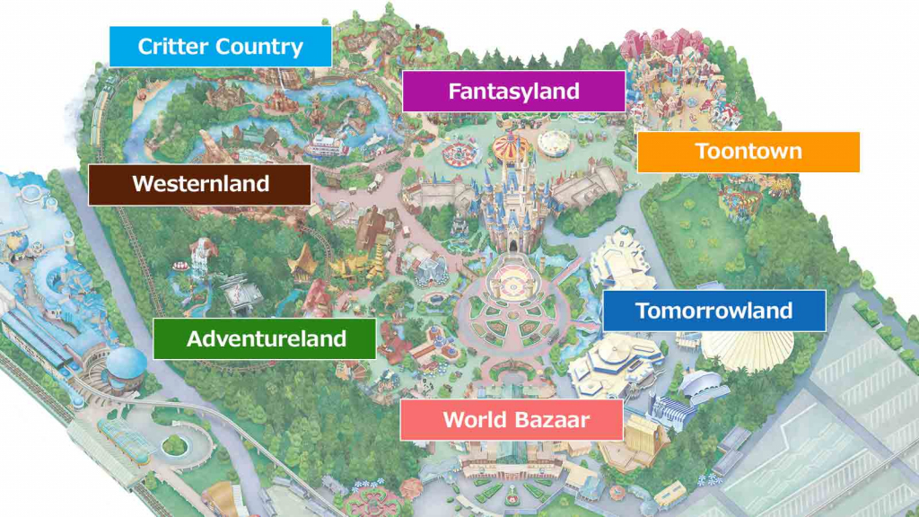 Official]Map Tokyo Disneyland inside Printable Disneyland Map 2015
