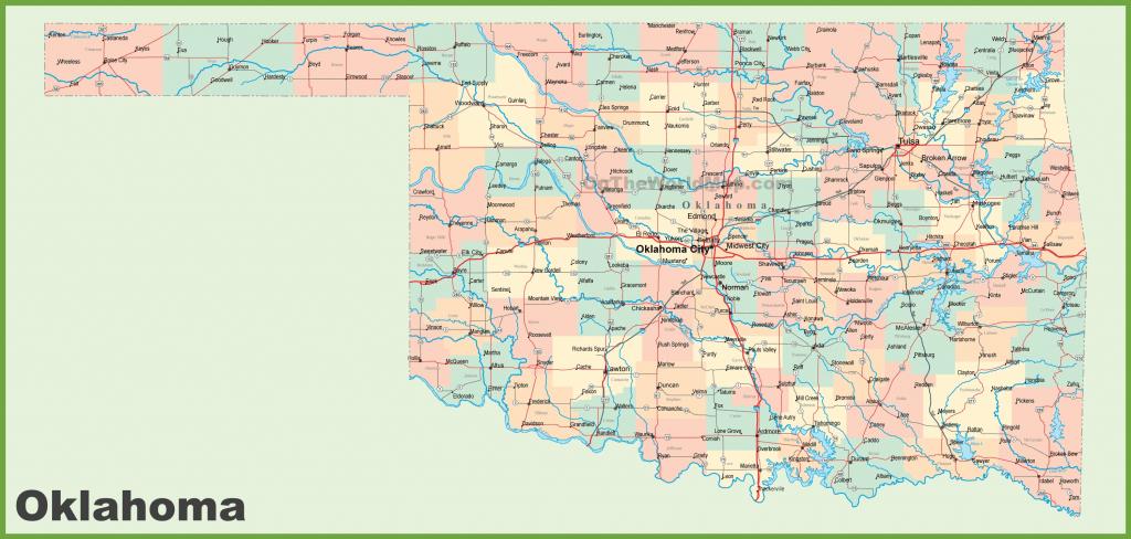 Oklahoma State Maps | Usa | Maps Of Oklahoma (Ok) inside Oklahoma State Map Printable