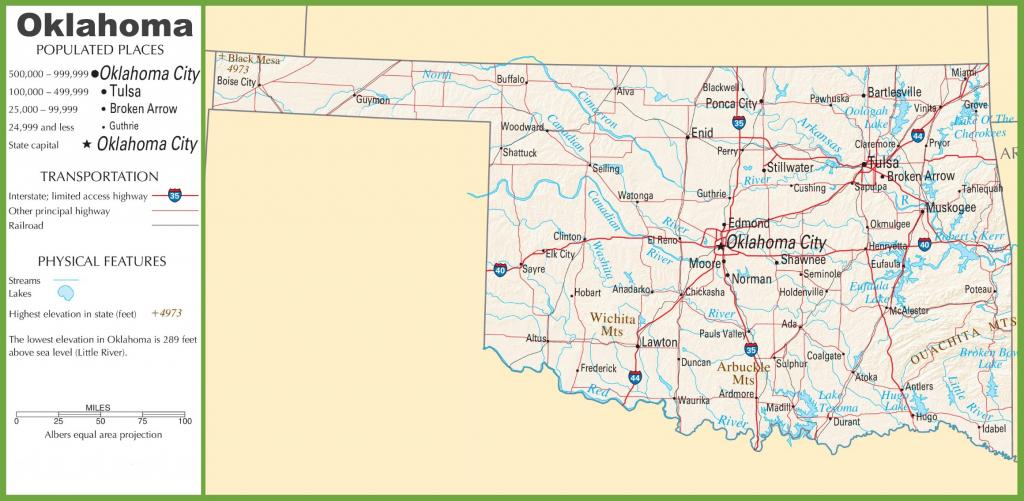 Oklahoma State Maps | Usa | Maps Of Oklahoma (Ok) throughout Printable Map Of Oklahoma