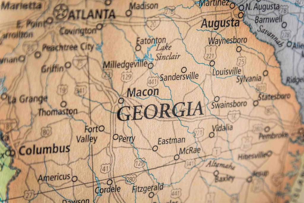 Old Historical City, County And State Maps Of Georgia pertaining to Printable Map Of Macon Ga