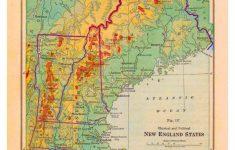 Printable Map Of New England
