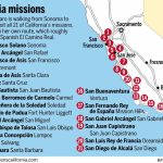 On A Mission All Her Own She S Walking California Royal Road Throughout California Missions Map Printable