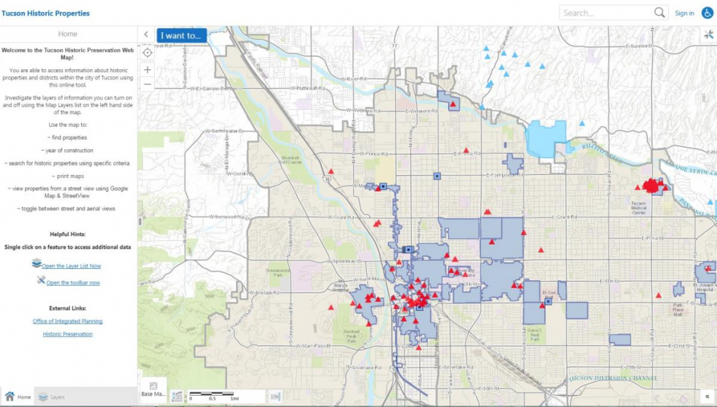 Online Resources | Official Website Of The City Of Tucson intended for Printable Map Of Tucson Az