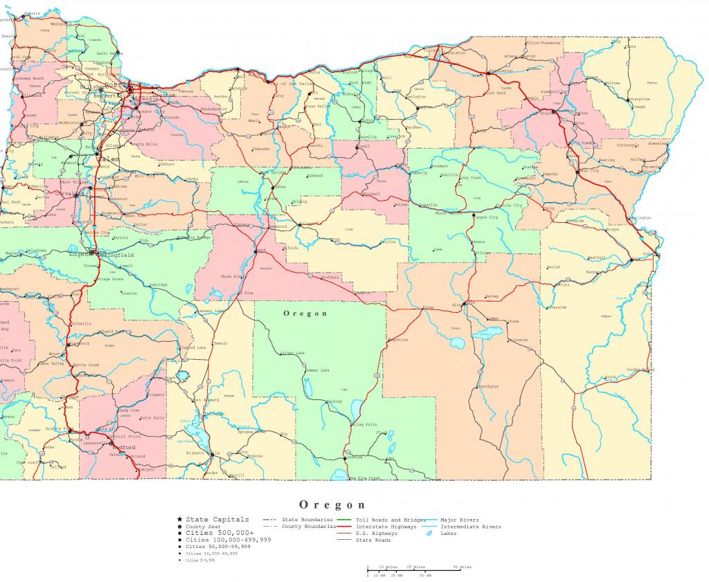 Oregon Printable Map throughout Printable Map Of Oregon