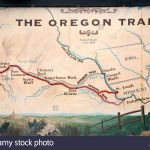 Oregon Trail Map Stock Photos & Oregon Trail Map Stock Images   Alamy In Printable Map Of The Oregon Trail