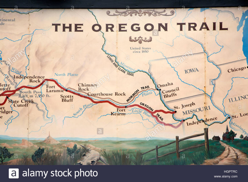 It is a graphic of Universal Oregon Trail Map Printable