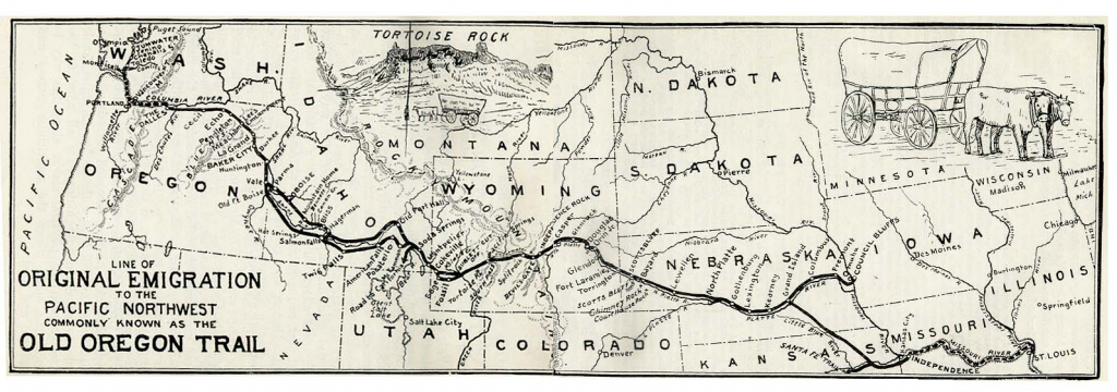 Oregon Trail On Us Map pertaining to Printable Map Of The Oregon Trail