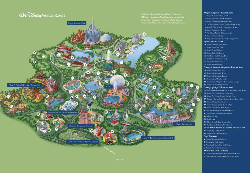 Orlando Walt Disney World Resort Map | Destination: Disney En 2019 pertaining to Walt Disney World Printable Maps