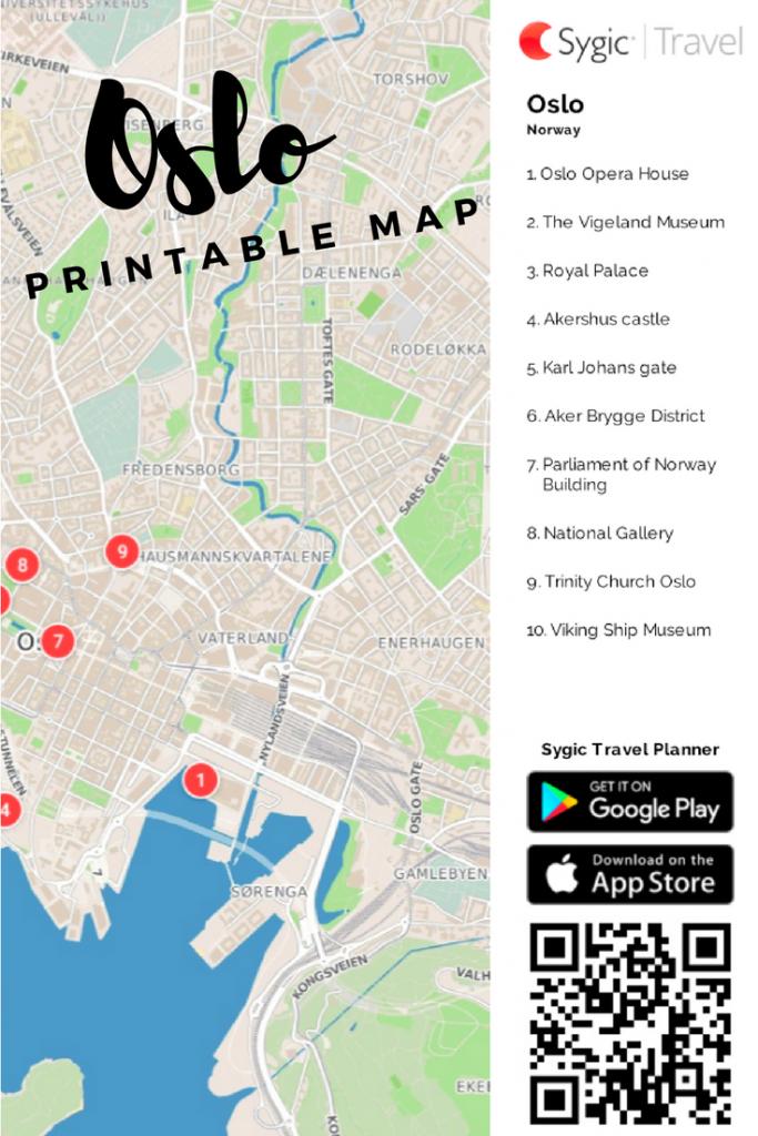 Oslo Printable Tourist Map In 2019 | Free Tourist Maps ✈ | Tourist with Oslo Map Printable