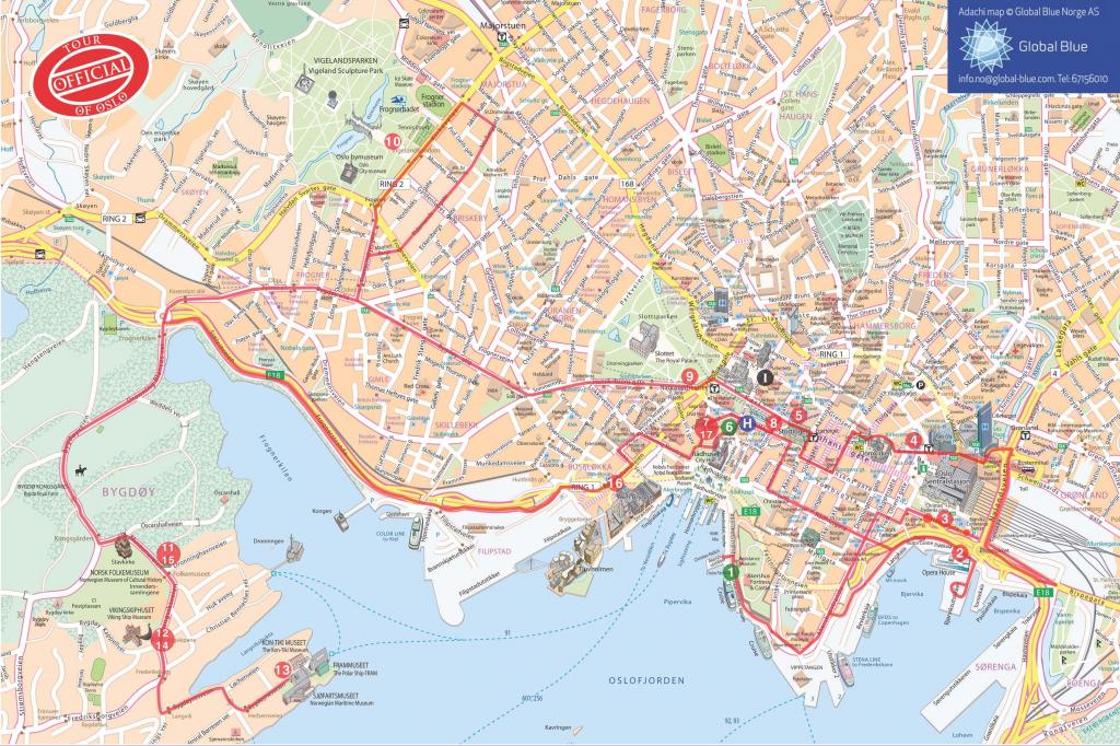 Oslo Tourist Map - Google Search   Oslo   Oslo, Norway, Tourist Map regarding Oslo Map Printable