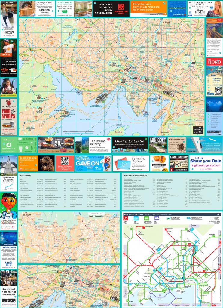 Oslo Tourist Map pertaining to Oslo Tourist Map Printable