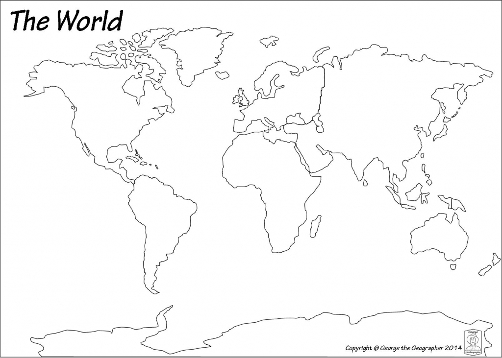 Outline Base Maps throughout Continents Outline Map Printable