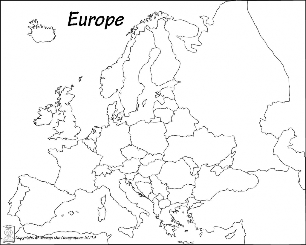Outline Base Maps with Printable Black And White Map Of Europe