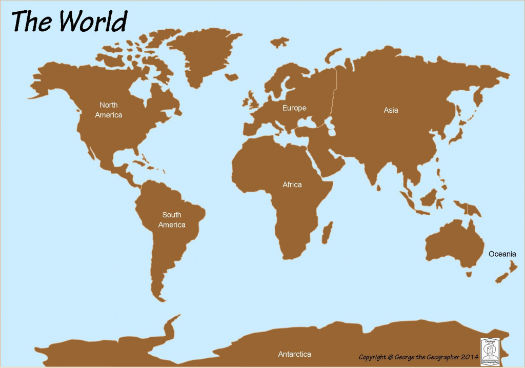 Outline Base Maps with regard to Free Printable Map Of Continents And Oceans