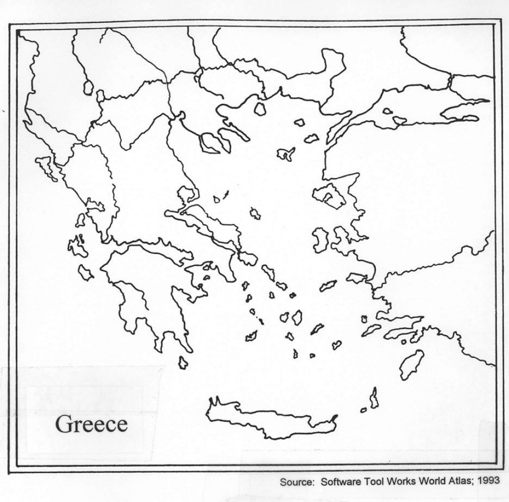 Outline Map Of Ancient Greece And Travel Information | Download Free for Map Of Ancient Greece Printable