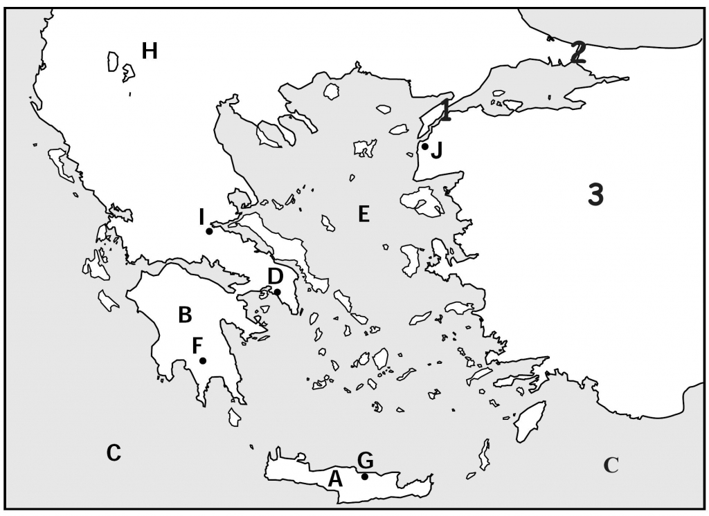 Outline Map Of Ancient Greece And Travel Information | Download Free inside Outline Map Of Greece Printable