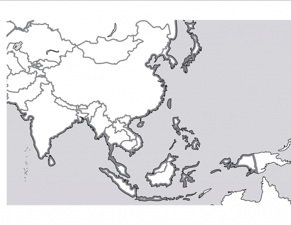 Outline Map Of East Asia With South And Free Blank In Best - Touran inside Free Printable Map Of Asia