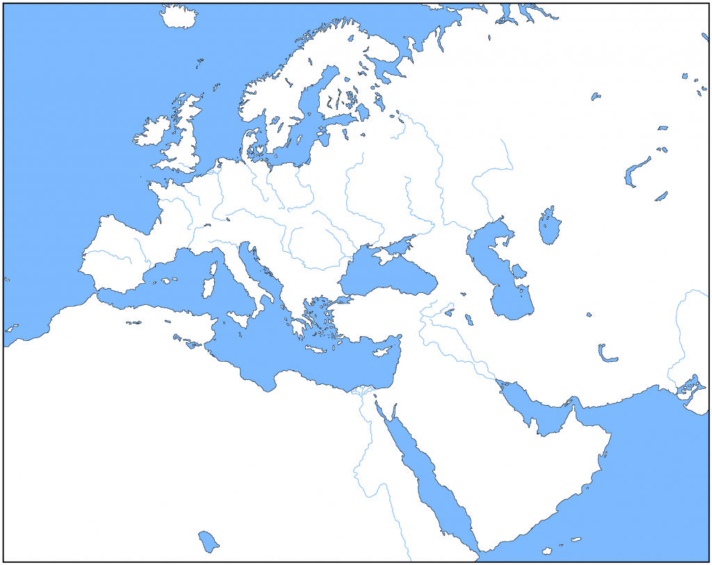 Outline Map Of Europe | Modg 8Th | Middle East Map, Asia Map, Map regarding Blank Map Of Europe 1914 Printable