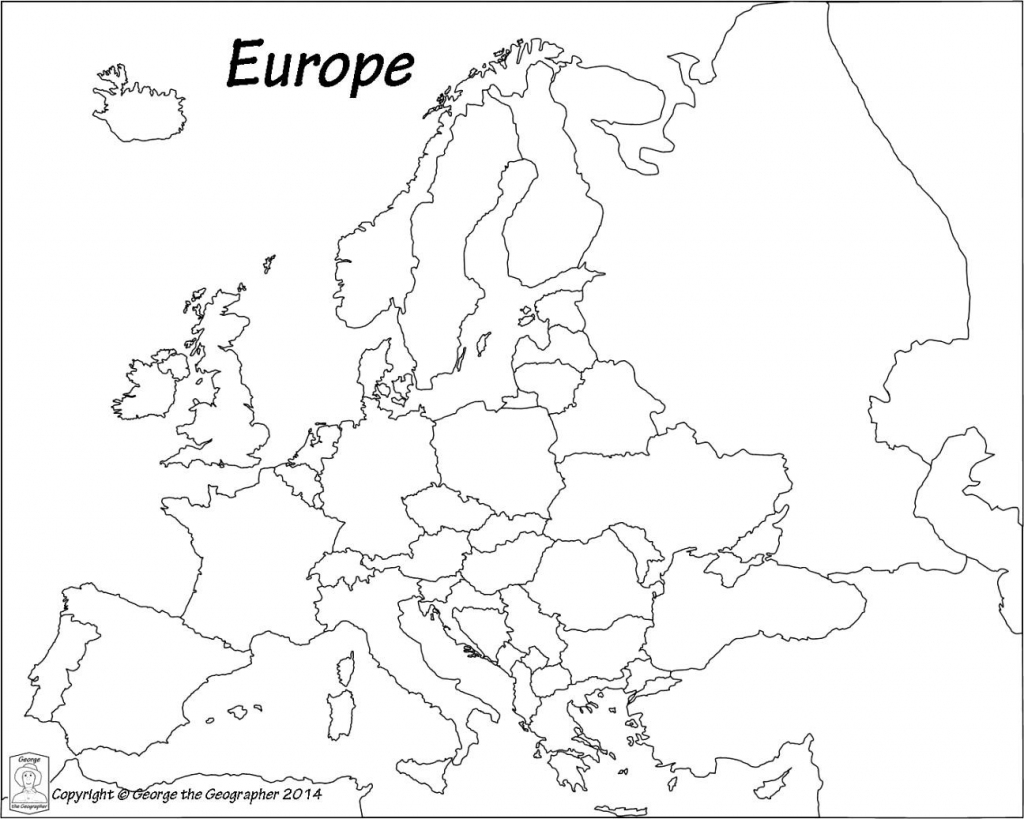Outline Map Of Europe Political With Free Printable Maps And In with Printable Outline Maps