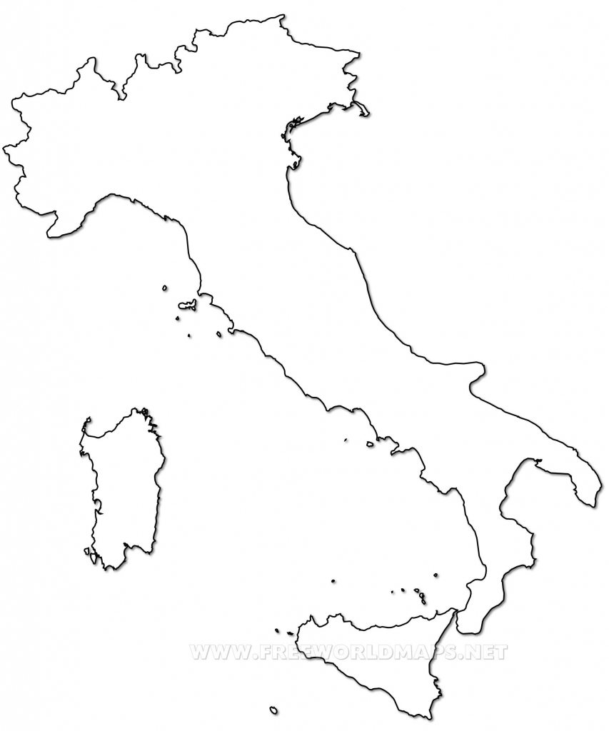 Outline Map Of Italy Printable With Italy Political Map with Printable Blank Map Of Italy