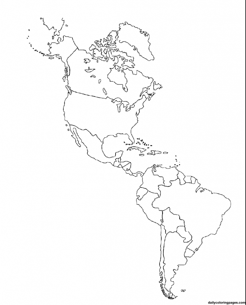 Outline Map Of South America Printable Tidal Treasures And Blank intended for Blank Map Of The Americas Printable