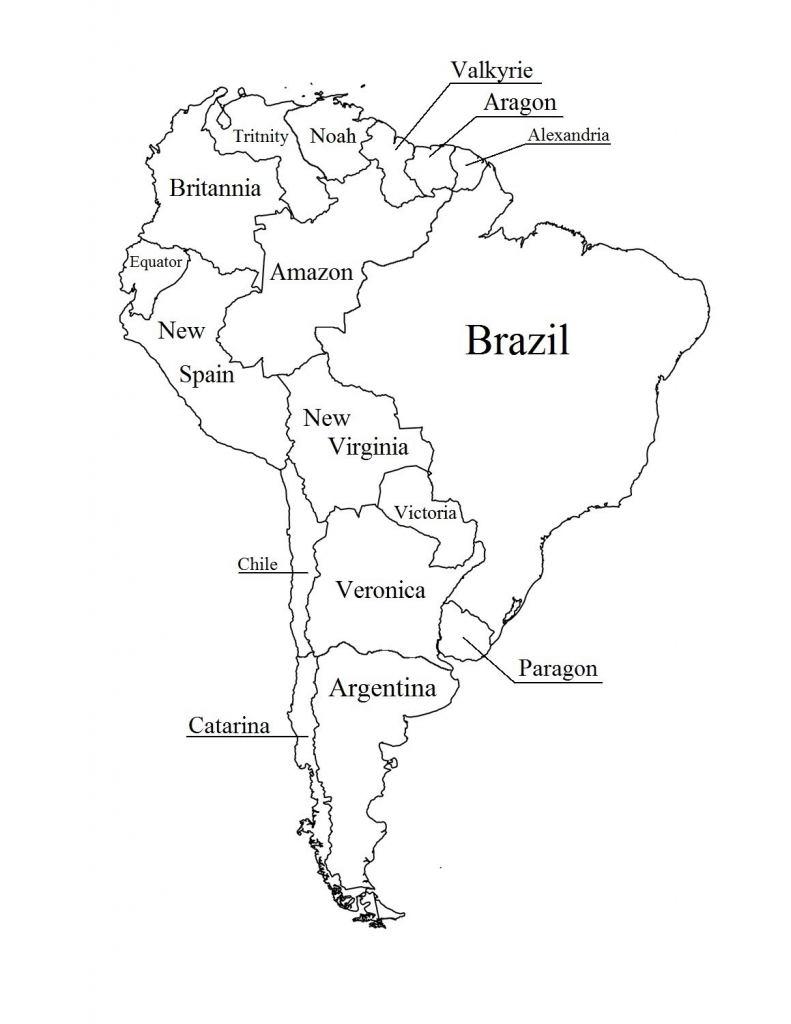 Outline Map Of South America Printable With Blank North And For New in South America Outline Map Printable