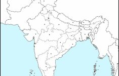 Political Outline Map Of India Printable
