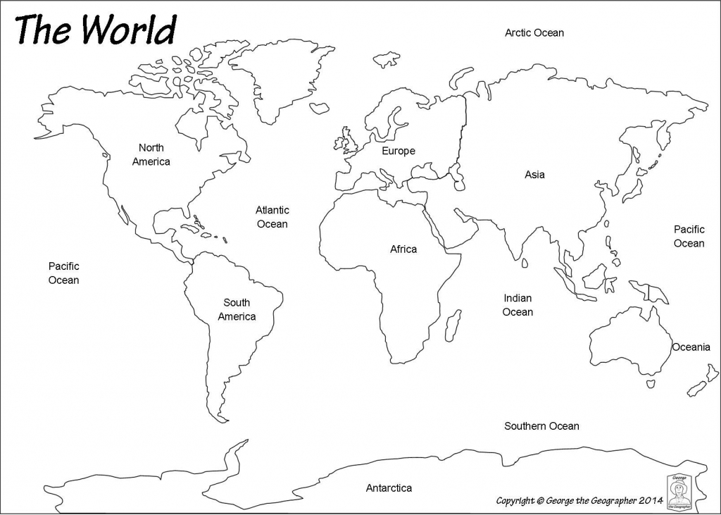 Outline World Map | Map | World Map Printable, Blank World Map with regard to Seven Continents Map Printable