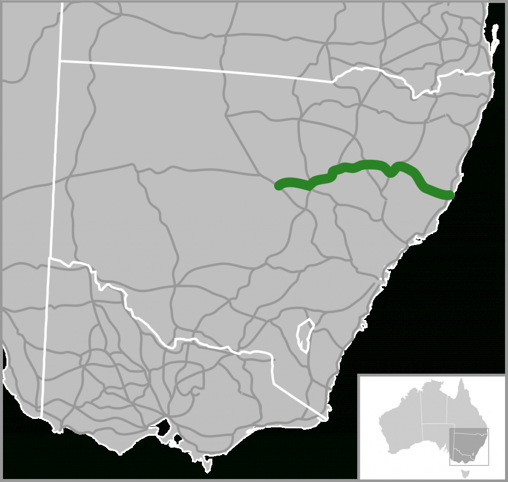 Oxley Highway - Wikipedia throughout Printable Street Map Of Port Macquarie