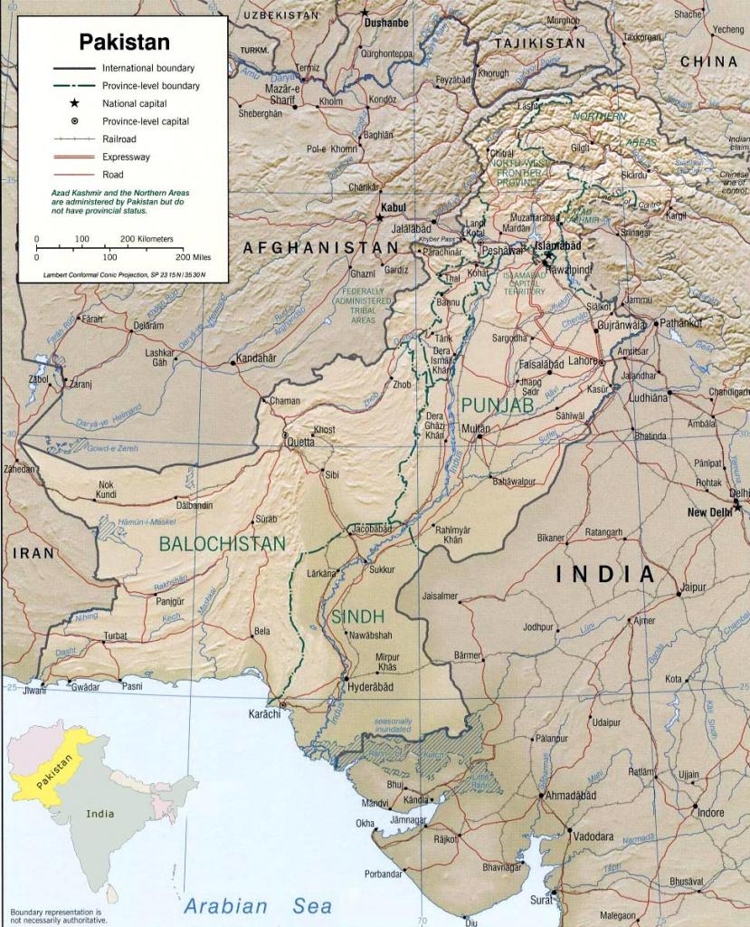 Pakistan Maps | Printable Maps Of Pakistan For Download with regard to Printable Map Of Pakistan
