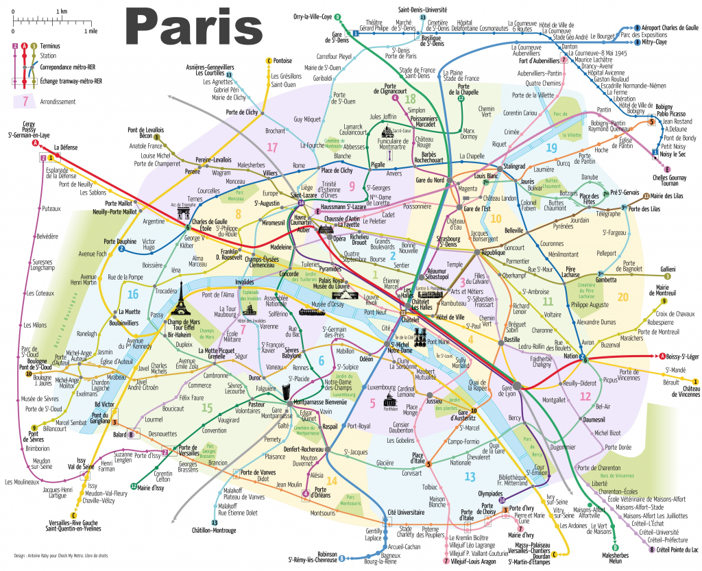 Paris Attractions Map Pdf - Free Printable Tourist Map Paris, Waking with Paris Tourist Map Printable