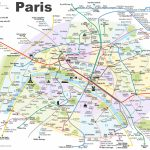 Paris Metro Map With Main Tourist Attractions Regarding Printable Paris Metro Map