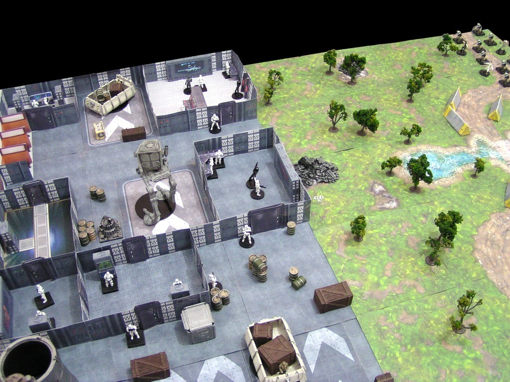 Paul's Star Wars Miniatures: More 3D Map Fun - Imperial Ground Base with regard to Star Wars Miniatures Printable Maps
