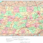 Pennsylvania Political Map Pertaining To Pa County Map Printable