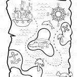 Personalized Printable Pirate Treasure Map Birthday Party Favor In Printable Treasure Map