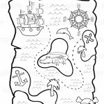 Personalized Printable Pirate Treasure Map Birthday Party Favor Intended For Printable Pirate Map