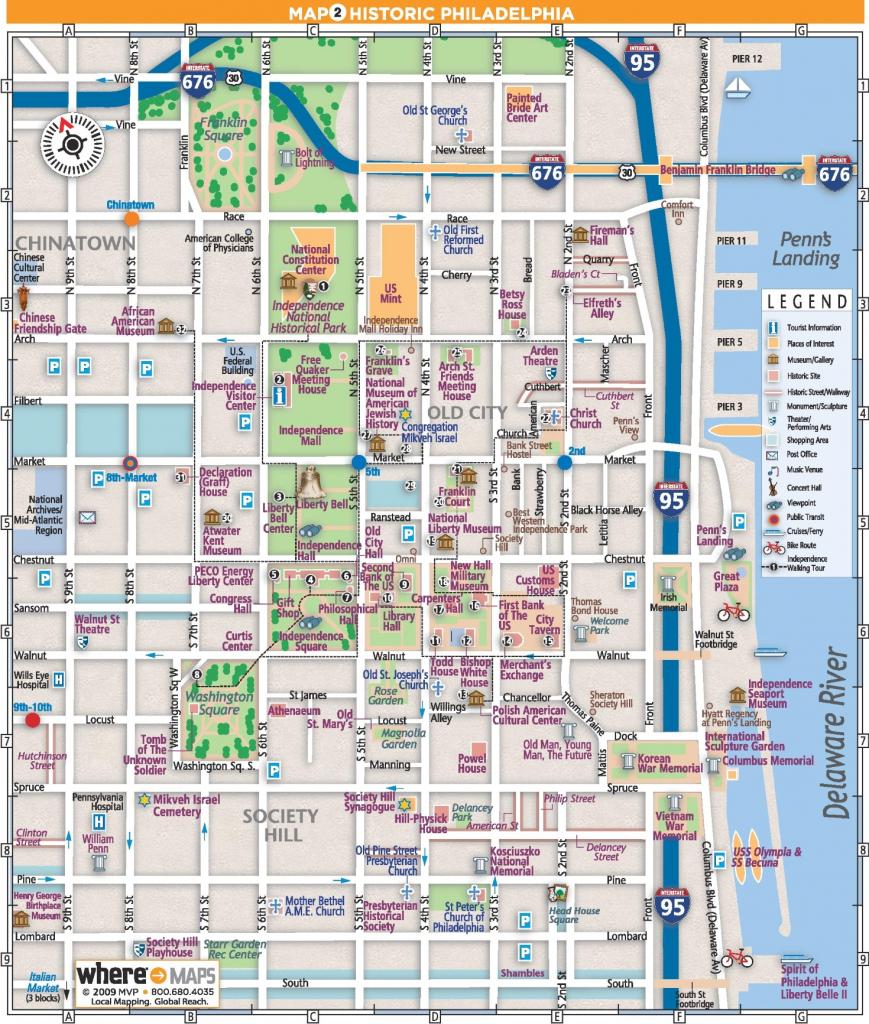 Philadelphia Old City Map in Philadelphia City Map Printable