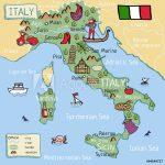 Photo & Art Print Cartoon Vector Map Of Italy For Kids. | Abposters In Printable Map Of Italy For Kids