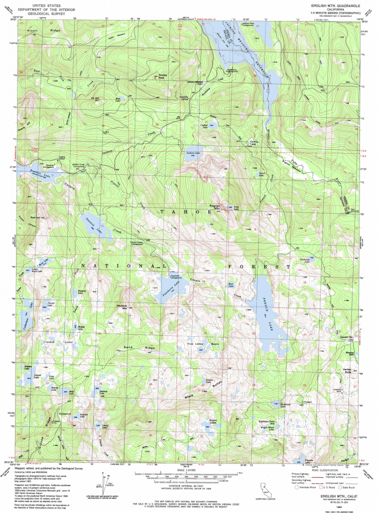 Physical Map Of California With Mountains Free Printable English throughout Free Printable Topo Maps