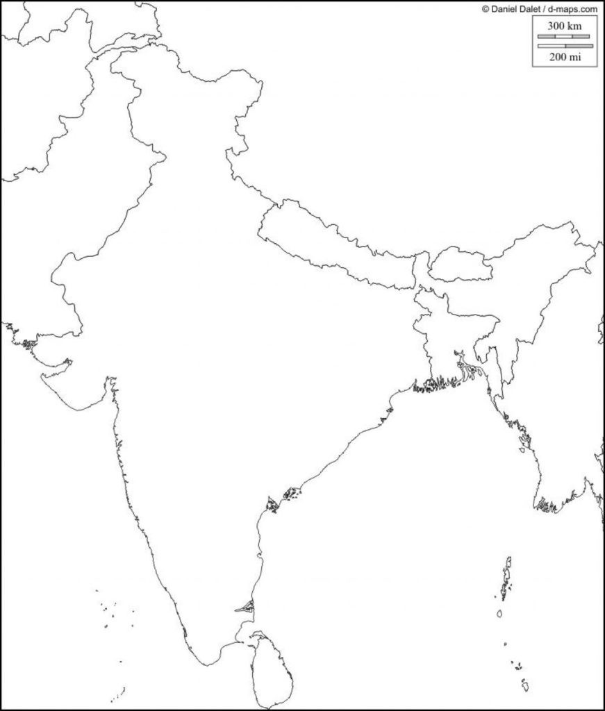 Physical Map Of India Blank Southern Within South Asia 871×1024 4 intended for Physical Map Of India Printable