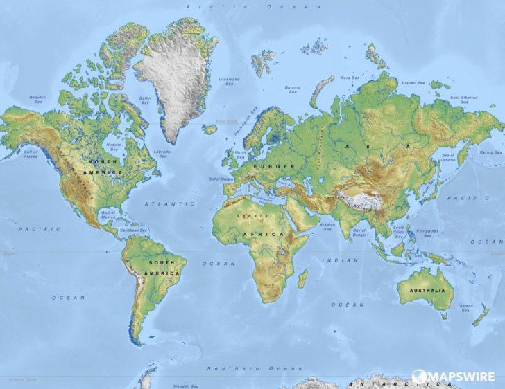 World Physical Map Printable
