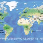 Physical Map Of World | World Physical Map Printable Inside World Physical Map Printable